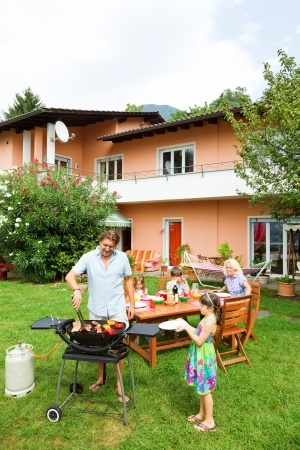 family grill backyard