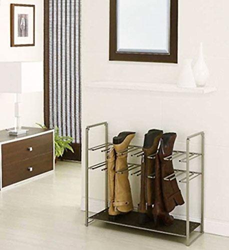 boot rack with shelf